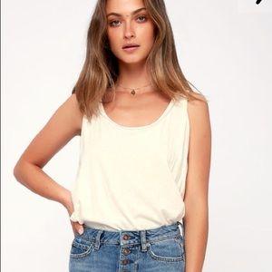 FP Sydney White Sleeveless Bodysuit
